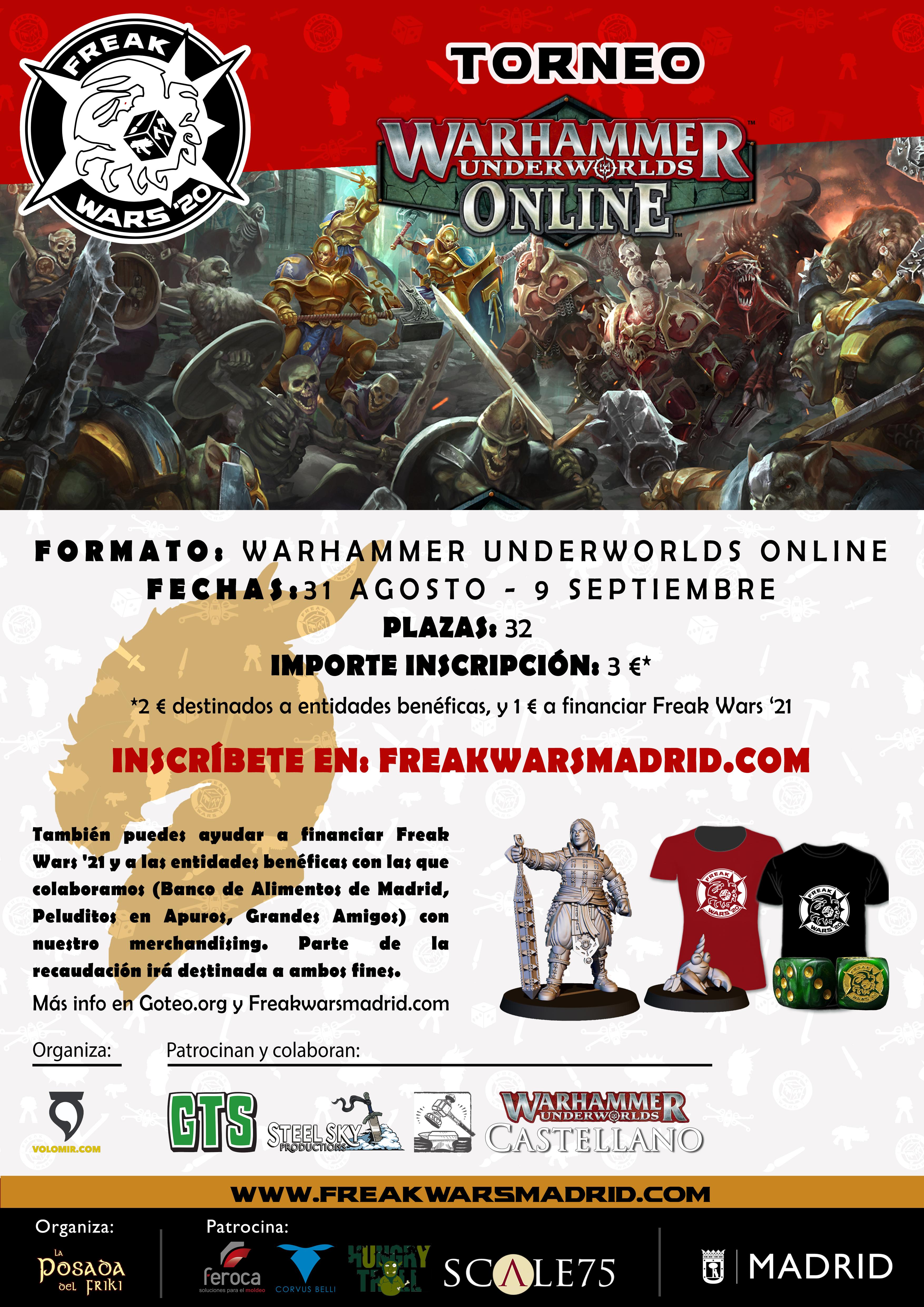 Torneo Warhammer Underworlds Online Freak Wars