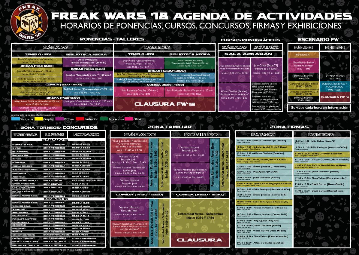 agenda freak wars 2018