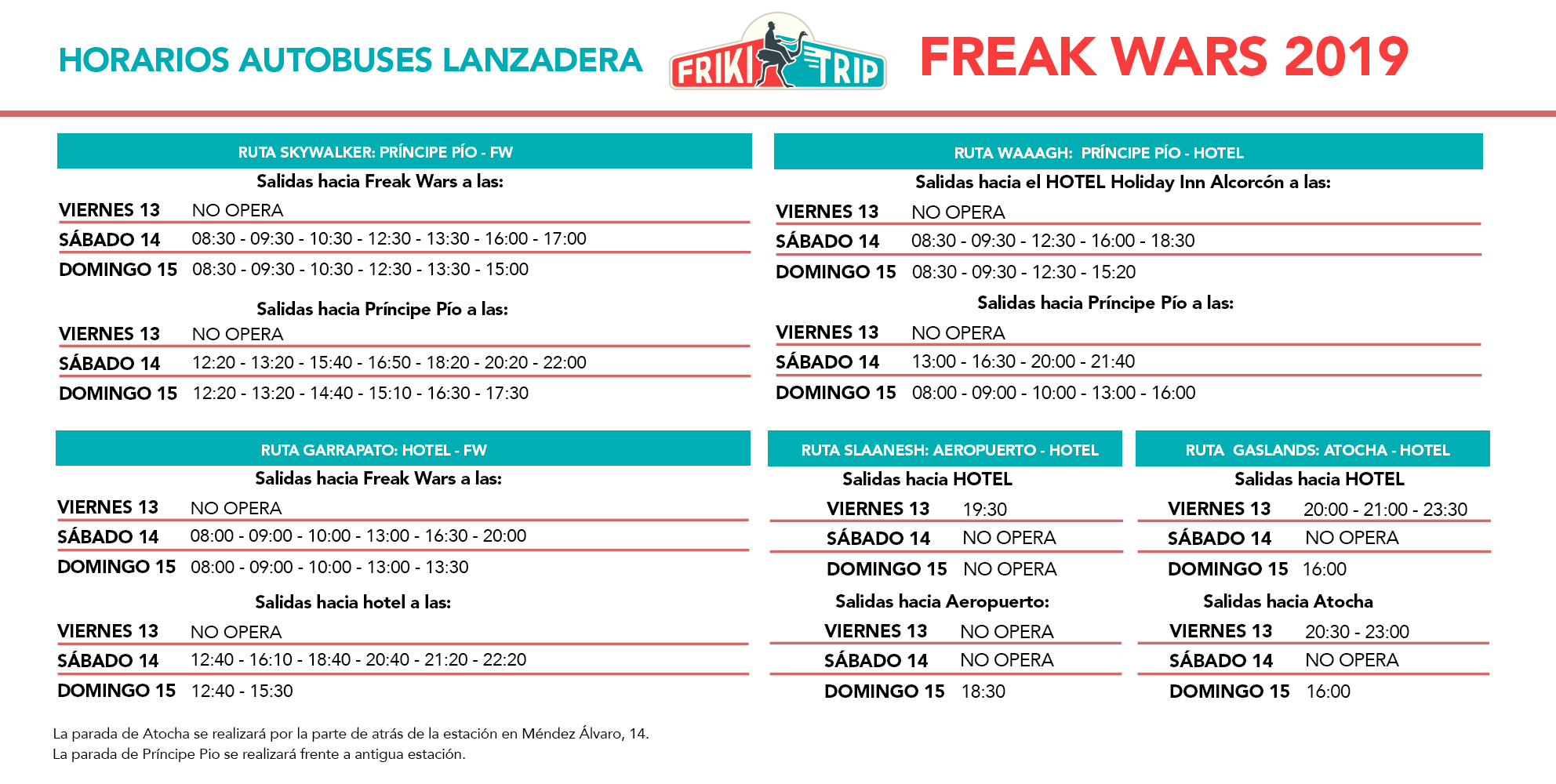 Autobuses gratuitos Freak Wars 19