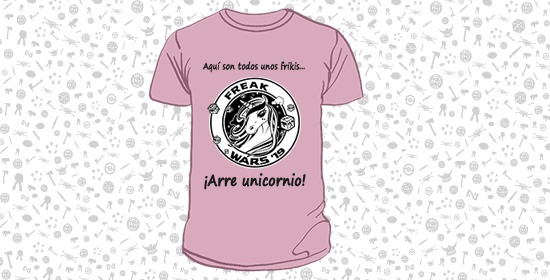 camiseta unicornio freak wars 2019