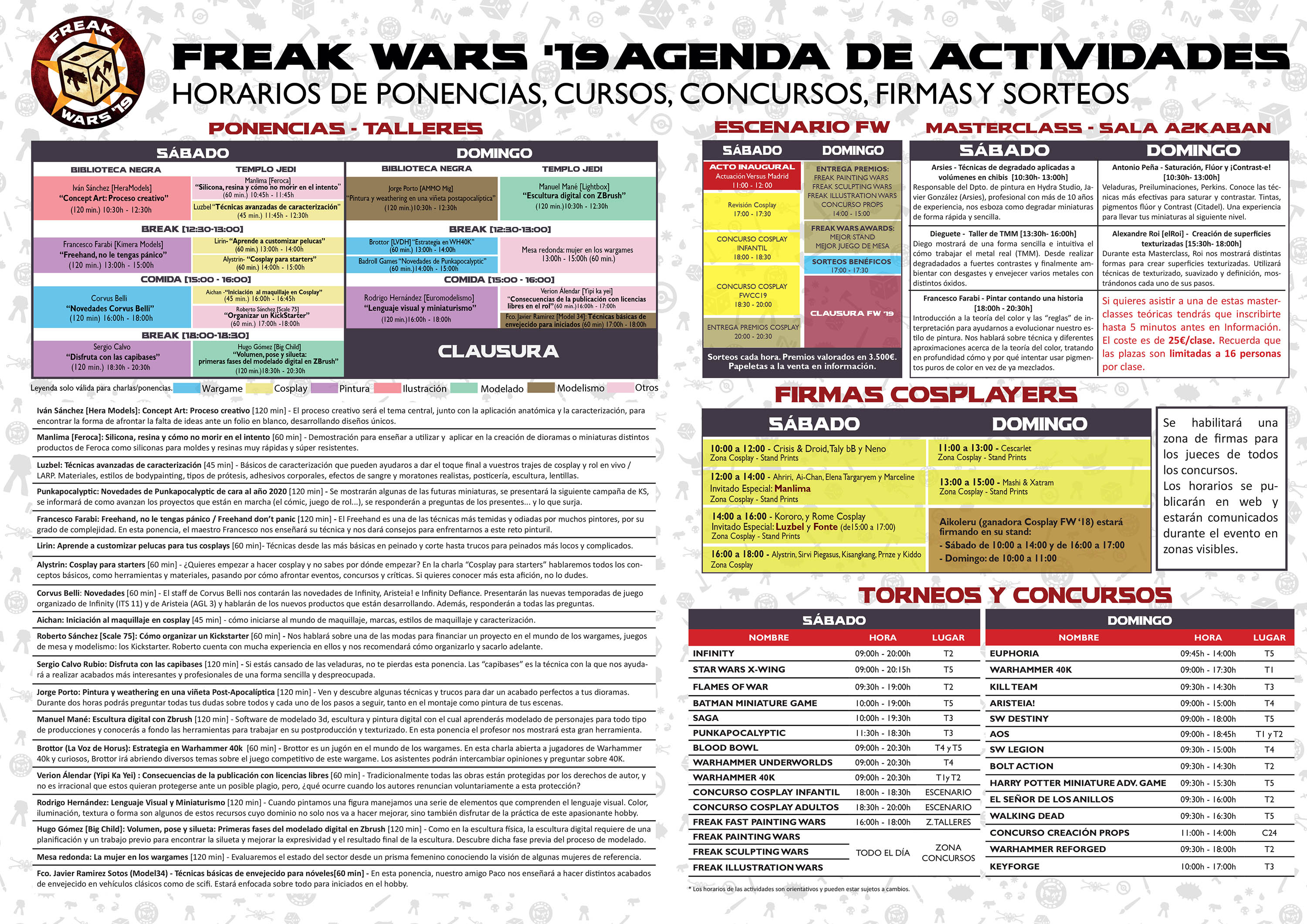 agenda freak wars 2019